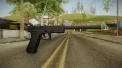 Glock 18 3 Dot Sight with Long Barrel für GTA San Andreas