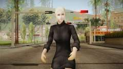 Female Black Sweater One Piece v1