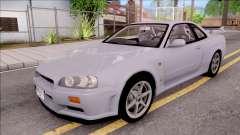 Nissan Skyline GT-R R34 Vspec Stock pour GTA San Andreas