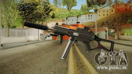 MP5 Grey Chrome pour GTA San Andreas