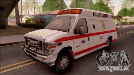 Ford E-350 SFFD San Francisco Ambulance pour GTA San Andreas