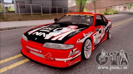 Nissan Silvia S14 Drift Nishikino Maki Itasha pour GTA San Andreas