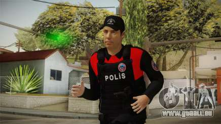 Turkish Police Officer with Kevlar Vest pour GTA San Andreas