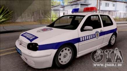 Volkswagen Golf 4 GTI Policija pour GTA San Andreas