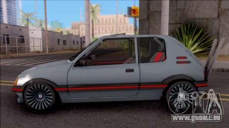 Peugeot 205 GTI pour GTA San Andreas laissé vue