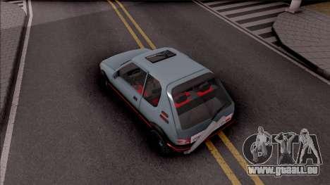 Peugeot 205 GTI pour GTA San Andreas vue arrière