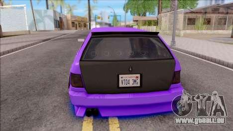 Stratum Stanced With Neon pour GTA San Andreas sur la vue arrière gauche