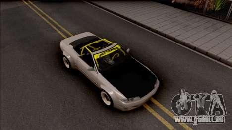 Nissan Skyline R32 Cabrio Drift Rocket Bunny für GTA San Andreas rechten Ansicht