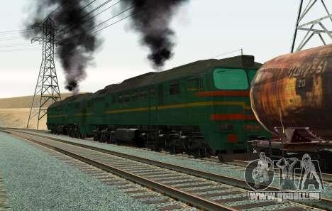 Güterzug-Lokomotive 2M62 1184 Masha für GTA San Andreas linke Ansicht