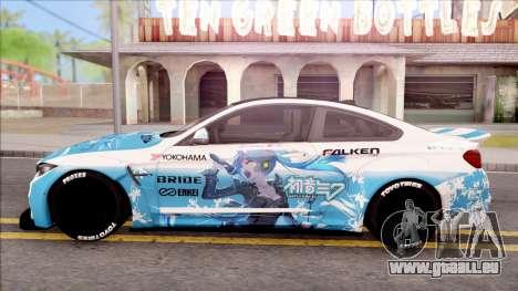 BMW M4 Itasha Hatsune Miku 2017 Liberty Walk pour GTA San Andreas laissé vue