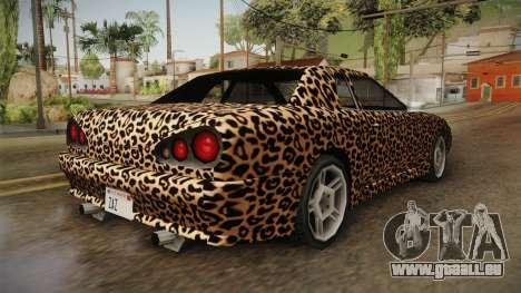New Elegy Paintjob v3 für GTA San Andreas zurück linke Ansicht
