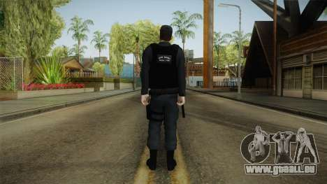 Turkish Police-Rapid Response Unit-Long Sleeves für GTA San Andreas dritten Screenshot