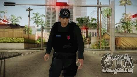 Turkish Police-Rapid Response Unit-Long Sleeves für GTA San Andreas