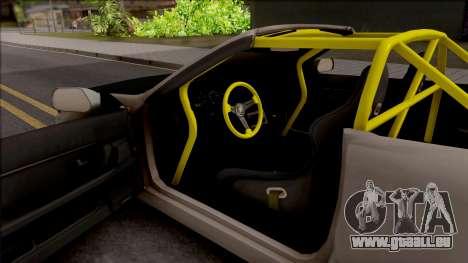 Nissan Skyline R32 Cabrio Drift Rocket Bunny für GTA San Andreas Innenansicht
