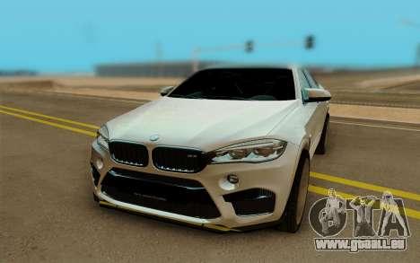 BMW X6M pour GTA San Andreas vue arrière