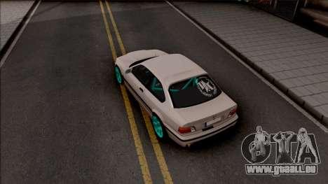 BMW M3 E36 Drift v2 pour GTA San Andreas vue arrière