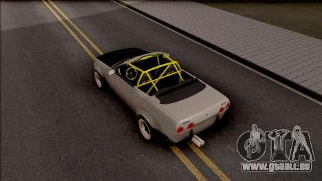 Nissan Skyline R32 Cabrio Drift Rocket Bunny für GTA San Andreas Rückansicht