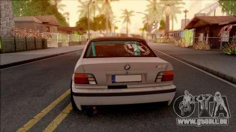 BMW M3 E36 Drift v2 pour GTA San Andreas sur la vue arrière gauche