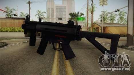 Mirror Edge HK MP5K-PDW pour GTA San Andreas deuxième écran