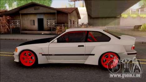 BMW M3 E36 Drift Rocket Bunny v2 pour GTA San Andreas laissé vue