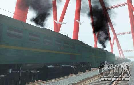 Güterzug-Lokomotive 2M62 1184 Masha für GTA San Andreas Rückansicht
