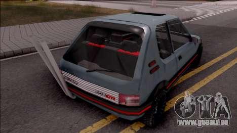 Peugeot 205 GTI pour GTA San Andreas sur la vue arrière gauche