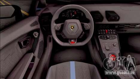 Lamborghini Huracan Performante pour GTA San Andreas vue intérieure