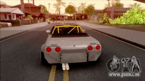 Nissan Skyline R32 Cabrio Drift Rocket Bunny für GTA San Andreas zurück linke Ansicht