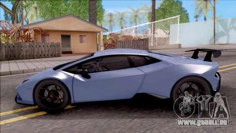 Lamborghini Huracan Performante pour GTA San Andreas laissé vue