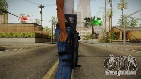 Mirror Edge HK MP5K-PDW pour GTA San Andreas troisième écran