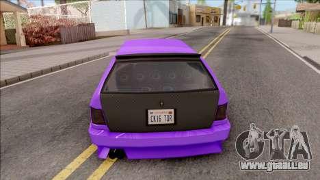 Stratum Stanced pour GTA San Andreas sur la vue arrière gauche