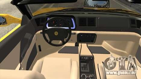 Ferrari F355 Spider für GTA San Andreas Innenansicht