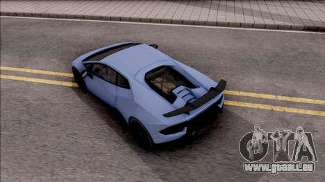 Lamborghini Huracan Performante pour GTA San Andreas vue arrière