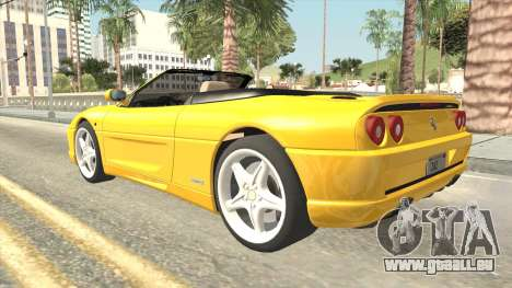 Ferrari F355 Spider für GTA San Andreas linke Ansicht