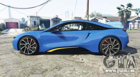 GTA 5 BMW i8 (I12) 2015 [add-on] linke Seitenansicht