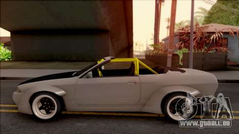 Nissan Skyline R32 Cabrio Drift Rocket Bunny für GTA San Andreas linke Ansicht