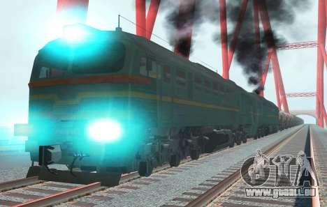 Güterzug-Lokomotive 2M62 1184 Masha für GTA San Andreas rechten Ansicht
