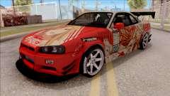 Nissan Skyline GT-R R34 RB Itasha Yuuki Asuna pour GTA San Andreas