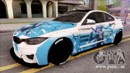 BMW M4 Itasha Hatsune Miku 2017 Liberty Walk pour GTA San Andreas