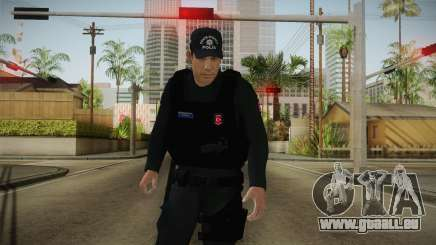 Turkish Police-Rapid Response Unit-Long Sleeves für GTA San Andreas