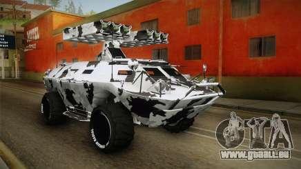 APC GTA 5 GunRunning Custom Turret für GTA San Andreas