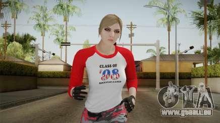 Gun Running Female Skin Red pour GTA San Andreas