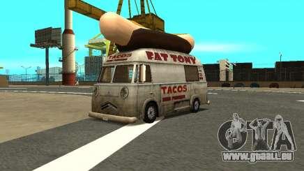 HotDog Fat Tony Tacos Tining 4X4 pour GTA San Andreas