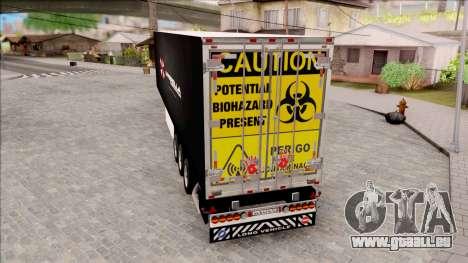 Trailer Biohazard Umbrella Corp. pour GTA San Andreas laissé vue