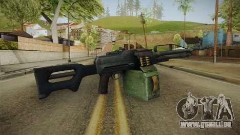 Battlefield 4 - PKP Light Machine Gun für GTA San Andreas dritten Screenshot