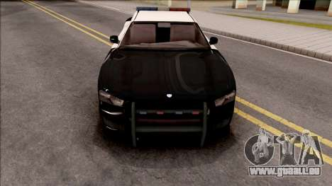 Dodge Charger Police Cruiser Lowest Poly pour GTA San Andreas vue intérieure