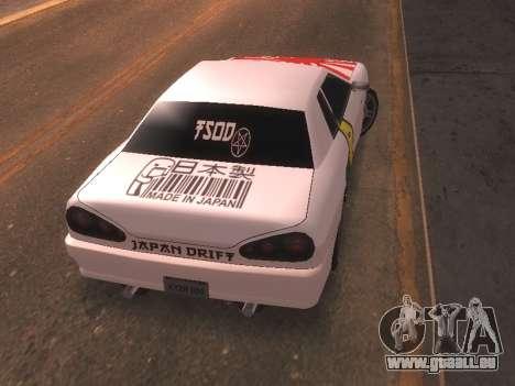 New Elegy PaintJob JDM für GTA San Andreas zurück linke Ansicht