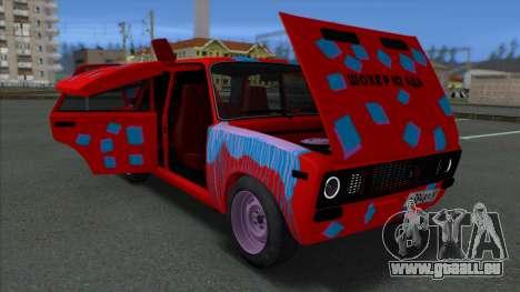 VAZ 2106 Shaherizada 2.3 GVR SA:MP pour GTA San Andreas vue arrière