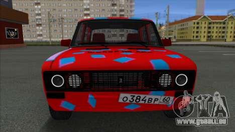 VAZ 2106 Shaherizada 2.3 GVR SA:MP pour GTA San Andreas sur la vue arrière gauche