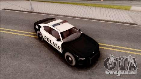 Dodge Charger Police Cruiser Lowest Poly pour GTA San Andreas vue de droite